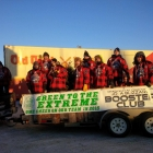 The OCN Blizzard sport one of kind lumberjack jerseys in the Torchlite Parade