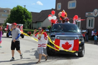 Jaret (News Reporter) and Jordan (P.D./afternoon host) - Canada Day Parade